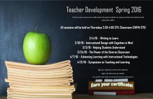 Spring 2016 Teacher Development Series