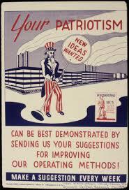 old patriotism poster