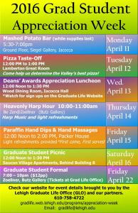 Grad Student Appreciation Week Poster