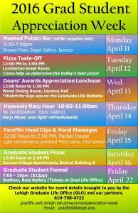 Grad Student Appreciation Week Poster