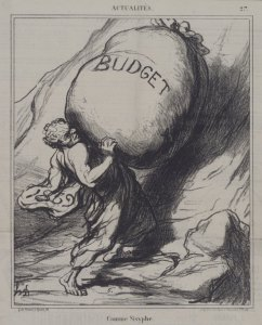 Sisyphus pushing up a budget