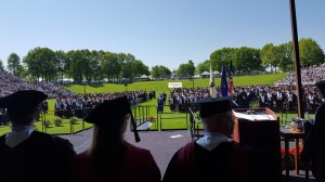Graduation View from the stage